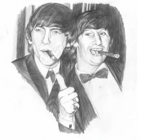 Ringo Starr George Harrison By Junkova14